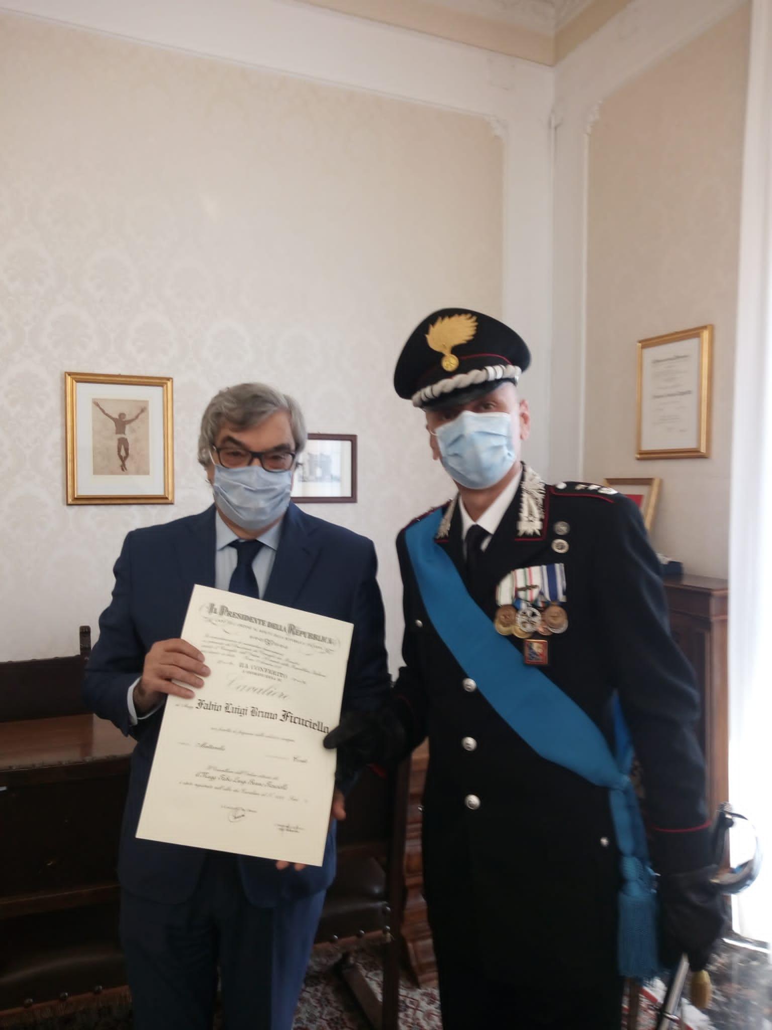 Fabio Ficuciello Cavaliere della Repubblica