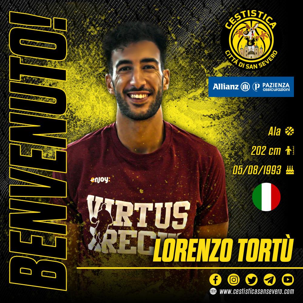 Lo scacchiere giallonero si arricchisce. Lorenzo Tortù firma con l'Allianz Pazienza