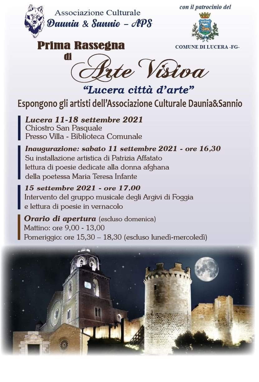 "Prima Rassegna di Arte Visiva "" Lucera città diarte"". di Vincenzo Battista"